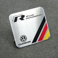 Germany Racing Emblem R-line Car Badge Sticker For VW Edition