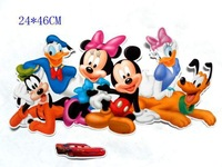Free shipping ,mickey and donald  wall STICKER, children room decor(sh170)