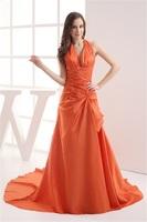 Elegant Sleeveless Court Train Satin Taffeta Pick-Ups Holiday Dress Or Custom Made