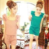 Fashion Summer Women Casual Jumpsuits. Short Sleeve Short Pants Round neck Jumpsuit  lady Rompers  js1001