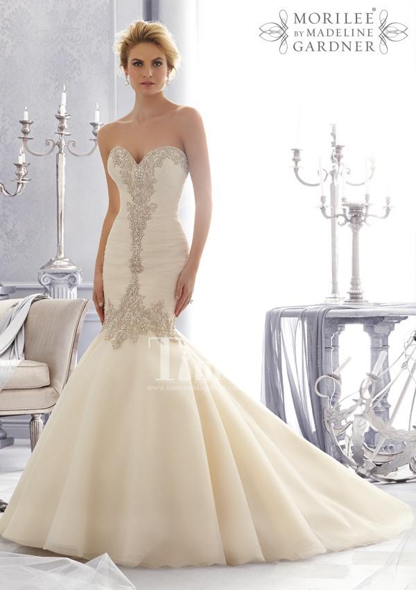 mermaid beaded sweetheart unique wedding dresses 2014 white/ivory/Champagne sleeveless princess under $300 WD002682(China (Mainland))