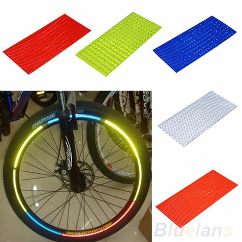 Fluorescent MTB Bike Bicycle Sticker Cycling Wheel Rim Reflective Stickers Decal for Outdoor Sports Accessories 1J4K(China (Mainland))