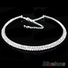 Hot Sale New Women Crystal Rhinestone Collar Necklace Choker Necklaces Wedding Birthday Jewelry 01RB