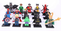 Super hero 15 PCS/lot superman and batman uncle classic doll DIY for the children's learning and education