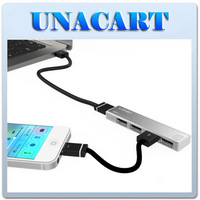 4 Port High Speed USB 2.0 Hub Expansion Power Adapter For Notebook PC Phone DL-H1
