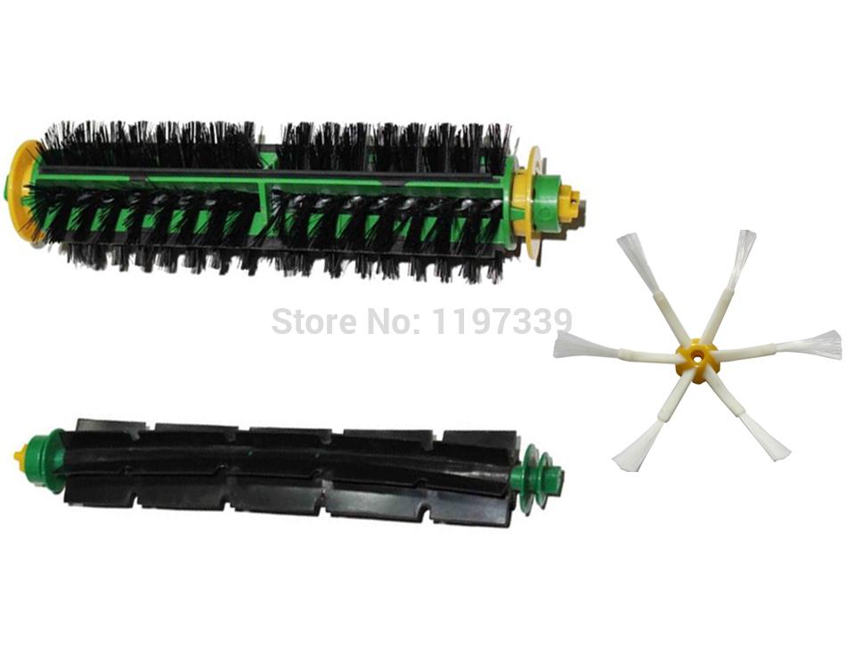 Cleaner Bristle Brush and Flexible Beater Brush Kits Replacement Brush for iRobot Roomba 500 510 530 560 570 580(China (Mainland))