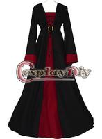 Cheap Custom-made Maroon Dress Medieval Victorian Dress Cosplay Costume
