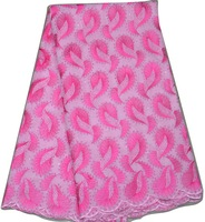 High quality African swiss voile lace fabric in PINK + FUSHIA. Ladies cotton voile wedding dress fabric. 5yds/pc.