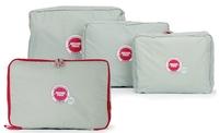 SMILE MARKET Free Shipping 4pcs/lot Awesome Traveling Storage case Luggage Clothes Storage Bag