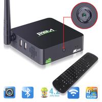 RKM MK902 Android TV Box Quad Core Mini PC Smart TV DDR3 2gb RMA Mali-400 GPU Build-in Camera+RC12 2.4GHz wireless Keyboard
