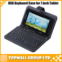 """7"""" Inch Tablet PC PDA Android Cover Case PU Leather Keyboard With Micro USB 6 Colors Free Shipping Drop Shipping"""
