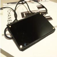 Mirror Mirror shoulder bag Korean diagonal size mini bag black iphone5_5s phone bag handbags
