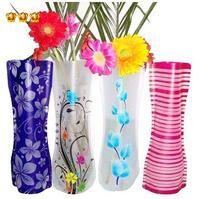 No min order limit+free shipping! New Novelty Foldable Plastic PVC  Flower Vase mixed styles Fish tank 1pcs/lot Free shipping