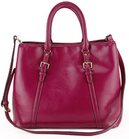 2014 new summer European and American genuine leather handbag oil waxy cowhide fashion big bags for women
