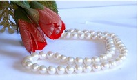 Natural freshwater pearl necklace jewelry, 7-8 mm