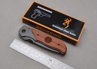 Browning Pocket Hunting Knives Outdoor Survival Folding Knife 57HRC 440C Free Shipping
