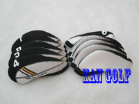 Rbladez irons headcover with Numbers printed two tones white/black 10pcs/set rocketbladez irons headcovers