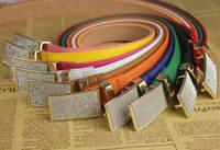 Women's fashion straps leather PU belt buckle rhinestone belt brand jewelry belts  GLS-047