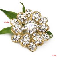 Free shipping 6pcs/lot women blouse pin brooch crystal bridal bouquet brooch female jewelry P1299-013