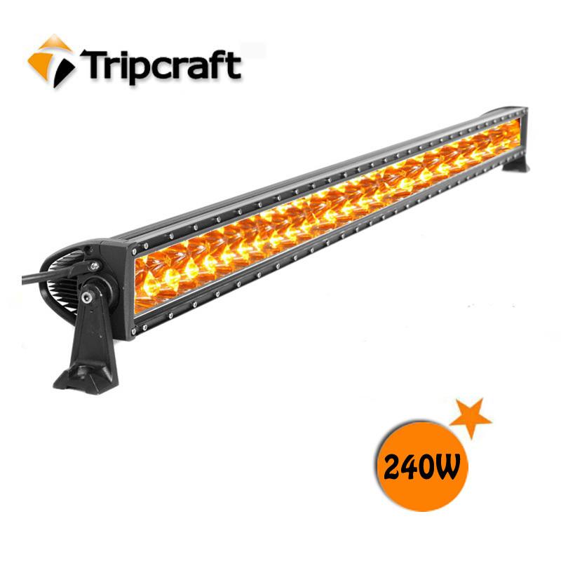Amber Warning Mini Lightbar Black Color -