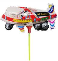 activity rod balloon animal cartoon style children ballon decoration freeshipping garden wedding fly tinfoil, foil balloons,