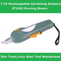 Free Shipping!/Garden Power Tools!/7.2v scissors/ST1002 electric graden scissors/Sier cordless branches shears/grass cutter