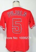#5 Albert Pujols Jersey,Baseball Jersey,Sport Jersey,Size M--XXXL,Accept Mix Order