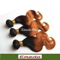 "Top sell Fashion queen hair 1b/30 18 20 22"" Queen Hair Ombre Body Wave 2Tone Ombre Hair Extensions  Peruvian Virgin Human Hair"