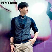 Peacebird men's clothing cardigan sweater / thin sweater Korean tide B1ED3111550