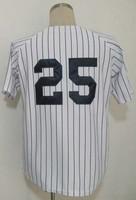 #25 Mark Teixeira Jersey,Baseball Jersey,Sport Jersey,Size M--XXXL,Accept Mix Order