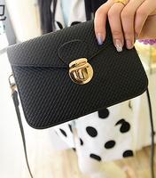 Summer beautiful fashion models Korean patent leather handbags premium metal lock bag small bag diagonal MINI