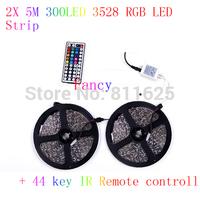 10M 3528 RGB 600Leds Led Flexible Light Strip and 44Key IR Controller   60Leds/m