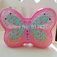 Free shipping! Pink butterfly shape waist pillow, pillow, cushion, 100% cotton embroidery waist pillow