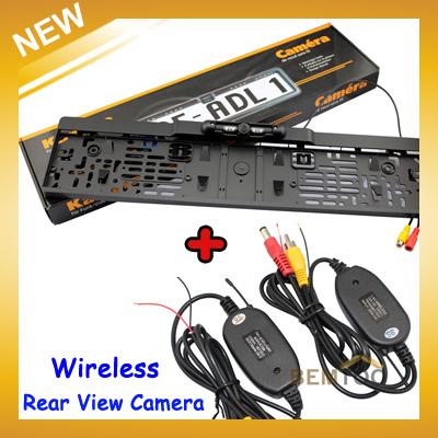 Newst Product Wireless Car Reversing Rear View Camera European License Plate Night Vision Backup Parking Sensor,Free Shipping(China (Mainland))
