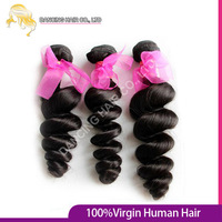 New! Aliexpress Beautiful 6a Unprocessed Malaysia Loose Wave Virgin Human Hair 2pcs/lot 1B Mocha  Hair Product Best Vendor