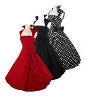 free shipping  collar 1950s  fashion   vintage rockabilly dress