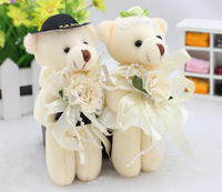 Free shipping Lovers wedding bear plush toy joint bear cartoon bouquet dolls
