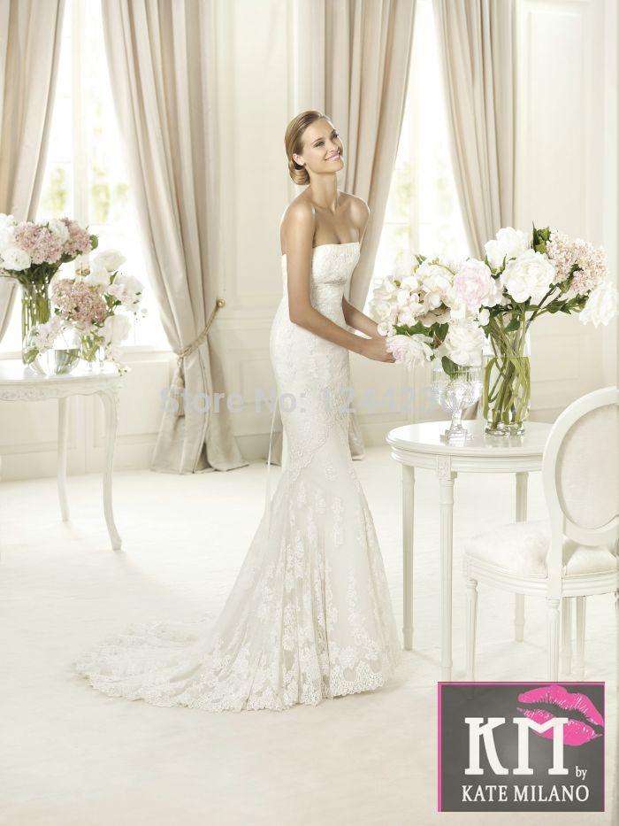 Fashion 2014 princess bride tube top mermaid high end designer dresses