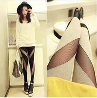 women's fashion sexy Splicing new spring and summer 2014 stretch legging pants