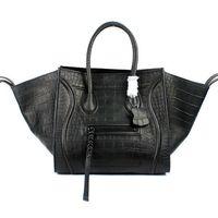 30CM New Style Croco Pattern Genuine Leather Designer Trapeze Bag / Fashion Crocodile Pattern Women Trapeze Handbag (LTG381)