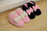 Free shipping  warm winter turnkey home with heavy-bottomed boots female models soft and comfortable indoor cotton slippers