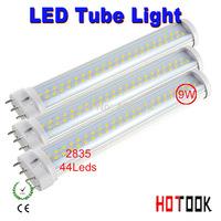 9w led tube lighting 2G11 4pin 4 pin 220V Indoor lighting 2835 SMD 230mm 23CM Lamp 85V~265V warranty 2 years CE RoHS x 10 PCS