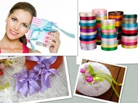 multi-color 40mm 25yards/roll single face grosgrain silk satin ribbon craft accessories wedding sewing decorations