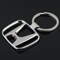1 pcs/lot 3D Metal Keyring for crv/civic/fit/accord/motorcycle// ,Auto Car Keychain Key Chain Keyfob car Logo Badge