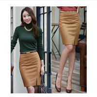 S-XXL 2014 Spring Autumn New Fashion Women's Business Suit Pencil Skirt Womens Wool OL Skirts Free Shipping