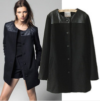 2014 Hot new women big woolen coat temperament Europe single-breasted wool coat long paragraph shipping
