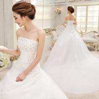 Train wedding dress 2014 spring slim tube top wedding dresses formal dress bandage