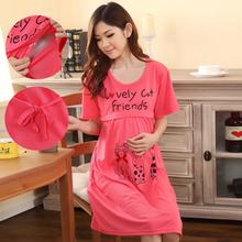 Al por mayor! Shipp gratuito primavera y verano ropa de maternidad vestido de maternidad ropa de dormir camisón enfermería ropa para mujeres embarazadas(China (Mainland))
