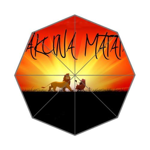 Cartoon movie le roi lion citer hakuna matata fond triple parapluie
