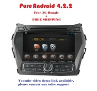 Car DVD TWIN  for Hyundai iX45 / Santa Fe Year 2013-2014 Pure Android 4.2.2  system